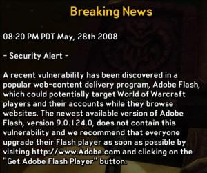 Breaking Flash vulnerability news